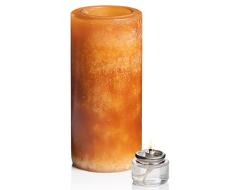 """Luminary Candle in Amber, 3"""" x 6"""""""