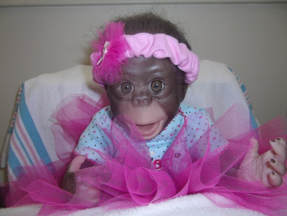 Baby Chimpanzee in Diaper 16 Quot Chimpanzee Chimp Baby Girl