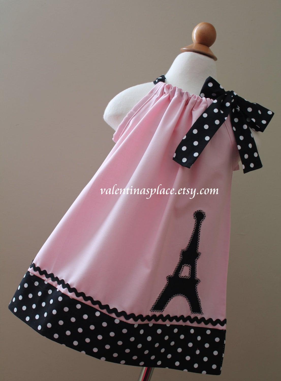 Lovely Eiffel Tower Paris Pillowcase Dress