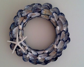 Maine Mussel Shell Wreath (Jewel Island Wreath)