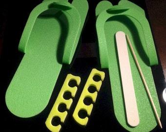 Pedicure 4 Piece set - Lime Green