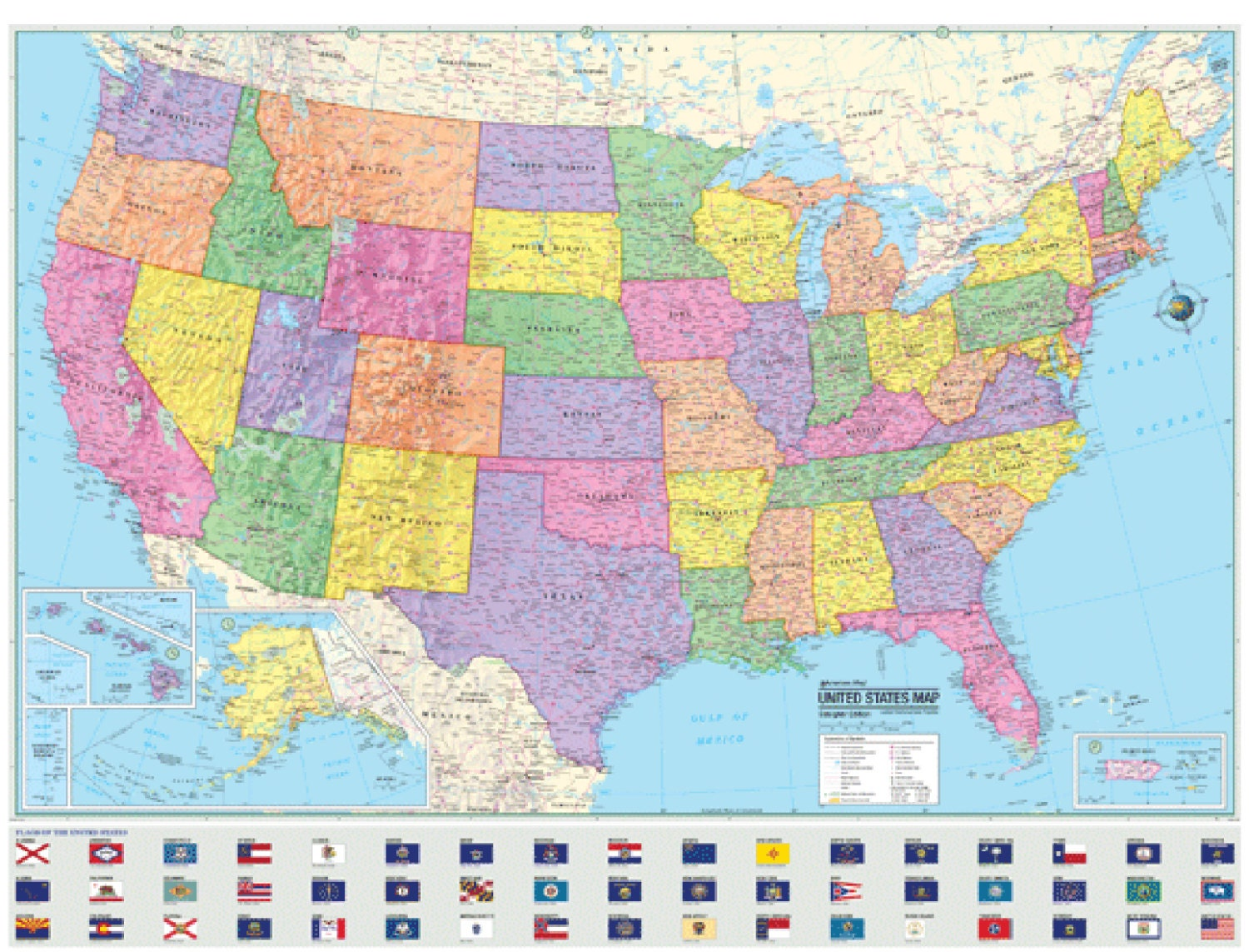 United States Wall Map Joltframework - Us map poster 24x36