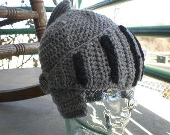 Crochet Knights Helmet Child Sizes