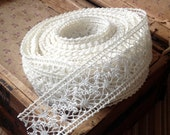 ivory crochet ribbon lace woodland rustic farmhouse chic wedding holiday simple country elegant vintage looking