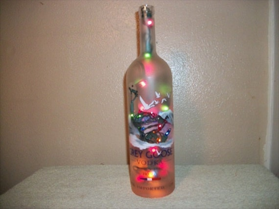 Liquor bottle lamp unique accent light decorative bar for Custom liquor bottles