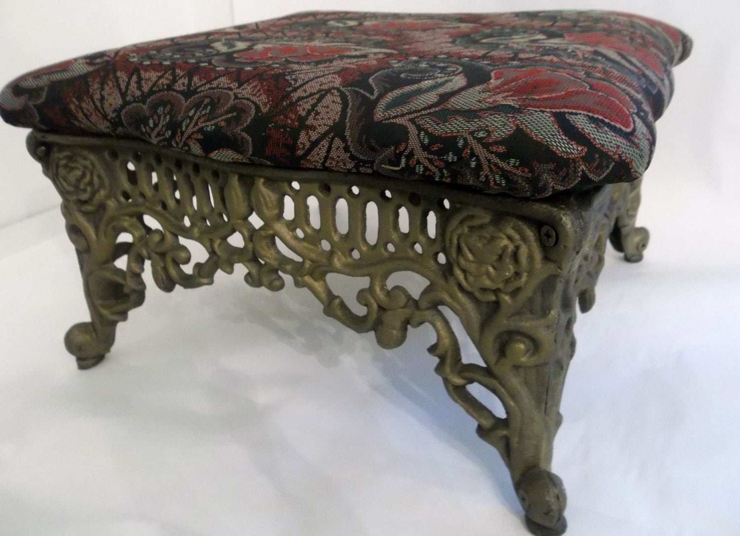 Foot Stool Cast Iron Foot Stool Ornate Heavy Metal Foot