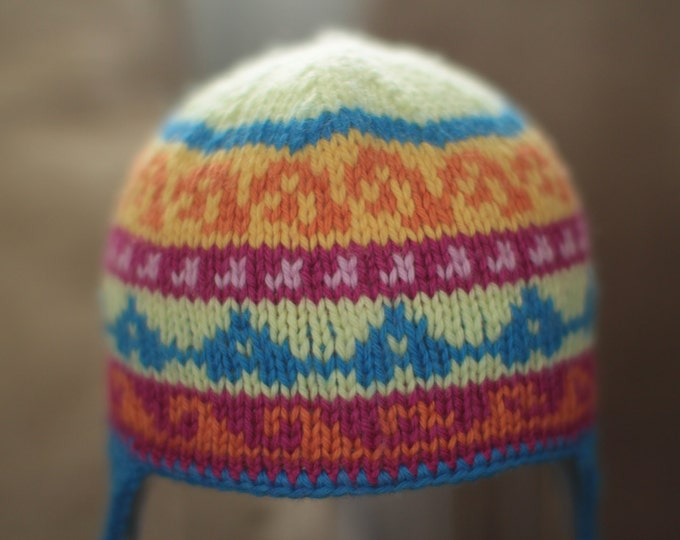 Pattern - Andean Child Hat Pattern for Hand Knitting