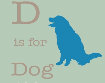 8x10 or 11x14 Dog Nursery Print | Child's Room Decor