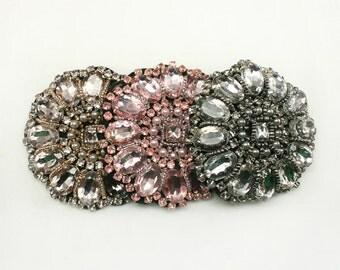 1 pc of Rhinestone applique beaded Headband Hair Accessories Headpiece 14 Annielov