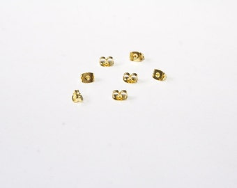 50 Pcs. ear nuts / earring clasps / gold tone SZ083