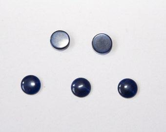 10Pcs 10mm CatEye cabochons d.blau C035