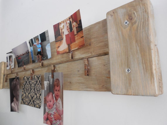Multi Picture Frame Holder Rustic Shabby Chic Wall
