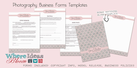 Photography Business Forms Templates 3 Patterns To Choose