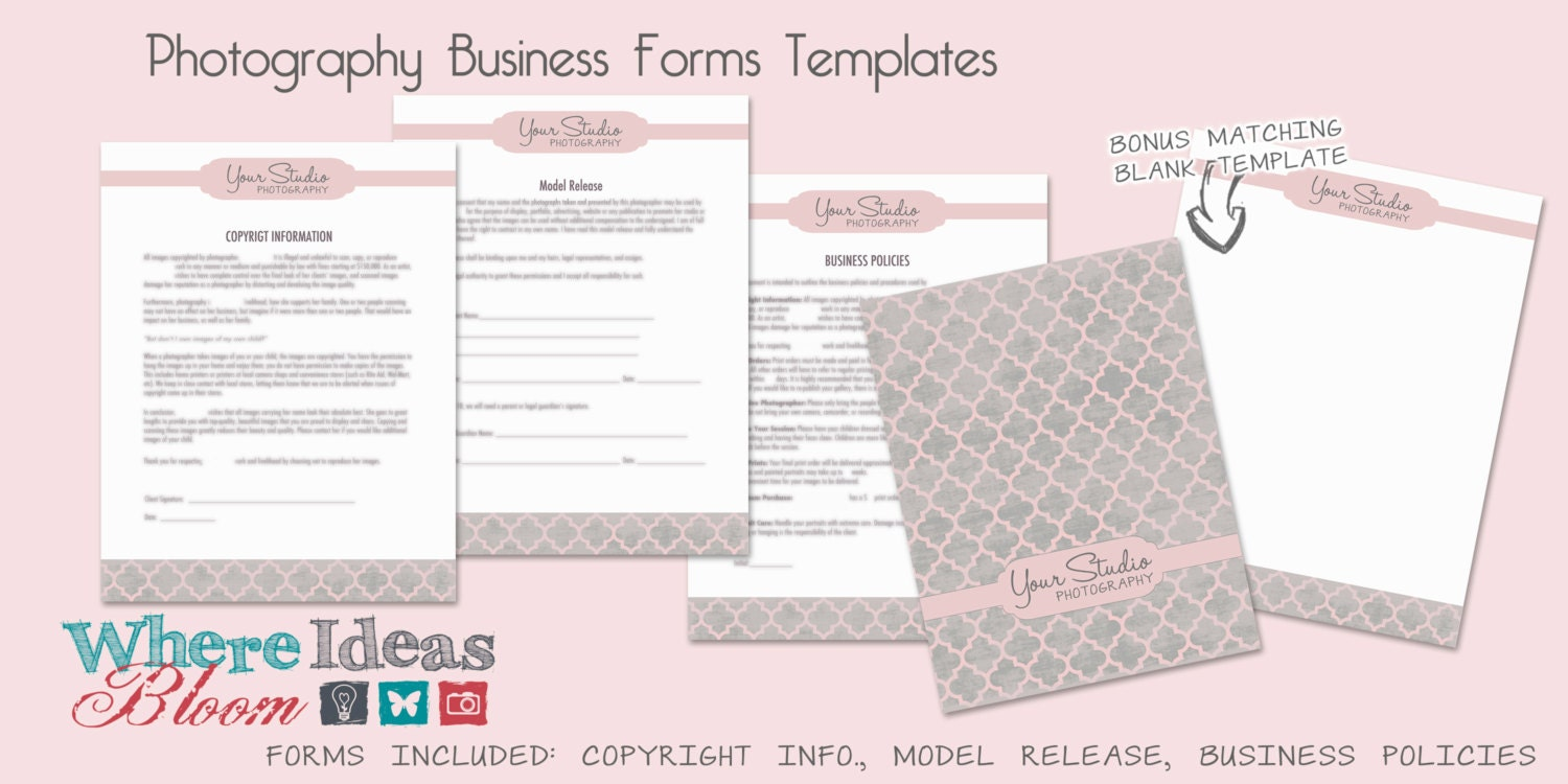 Photography Business Forms Templates 3 Patterns to Choose – Business Forms Templates