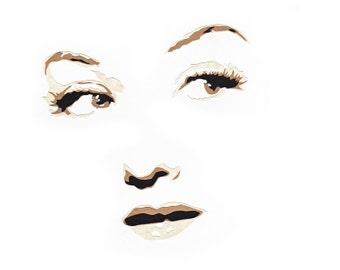 "Original Hand-Cut Paper Portrait - ""Ann Savage"""