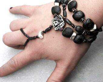 Beaded Dark Enslavement Bracelet