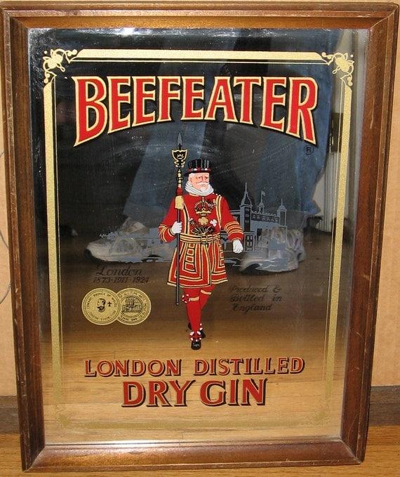 Beefeater Vintage Bar Mirror