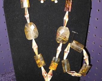UNIQUE AGATE Necklace Set