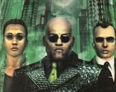 Coaster - Movie Coaster - The Matrix Coaster - Mr. Anderson - Neo - Morpheus - Messiah - Beverage Coaster - Comic Book - Movie - Video Game
