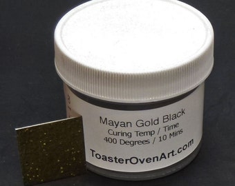 Mayan Gold Black Powder Coating