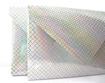 Silver envelope boxes Holographic A9 Qty 5 Brochure 1/2 inch deep  Envelopes 8.25 x6 x 0.5 Box-a-Lope