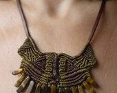 TRIBAL DANCE Tiger Eye //// Tribal, ethnic, artwork, handmade, handcraft, gemstone, macramé