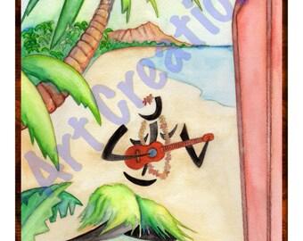 "Hawaiian Paintings - 8"" x 10"" Prints - Ready to frame"