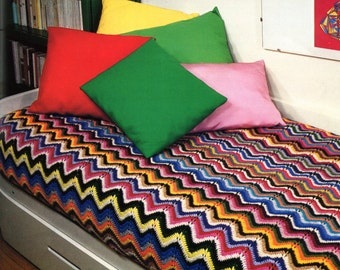 Fantastic Chevron Afghan or Couch Cover Pattern