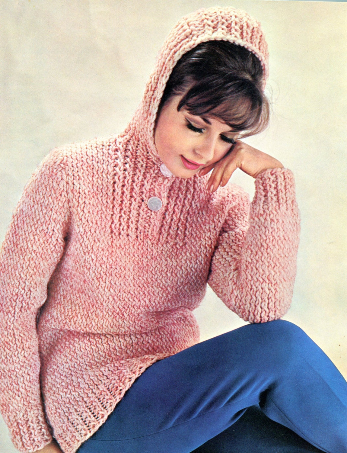 Hooded Knit Sweater Pattern