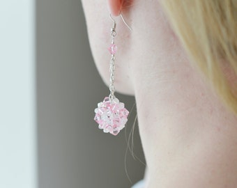 Hot Pink Earrings For Her, Gift
