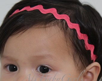 Pink Chevron Headband, Pink Baby Headband, Pink Headband, Newborn Headbands, Pink Headband Baby Baby Headband Infant Headbands Halo Headband