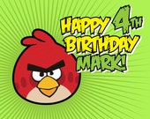 Angry Birds Inspired Customized Printable Birthday Sign