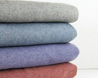 Half Yard of 1x1 Rib Knit Fabric - Cotton Blend Tubular Knit Sewing Trim - Heather Colors Oatmeal Grey Denim Blue Lilac Purple Orange Rust