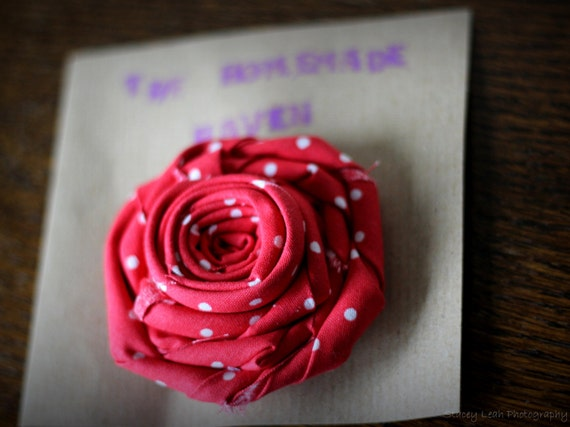 Cath Kidston Corsage Brooch Red Spot