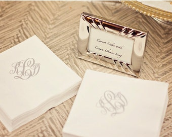 Monogrammed / Personalized / Custom Paper Guest Towels