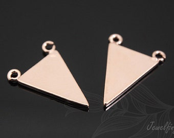 S447-20pcs-Pink Gold Plated