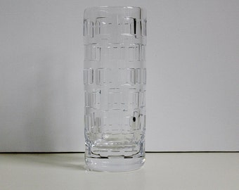 Signed Rosenthal Classic crystal glass vase, West Germany