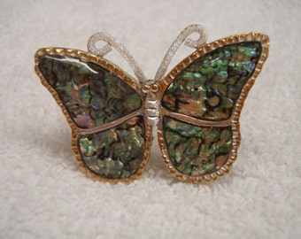 Butterfly Abalone Pin