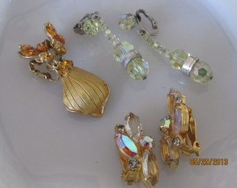 Trio of Vintage Earrings