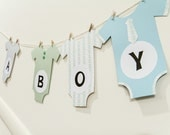 Baby Shower Banner - Onesies on a Clothesline