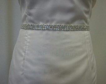 Bridal Belt, Wedding belt, Bridesmaid Belt- Rhinestone Belt Style B102 - Made to Order