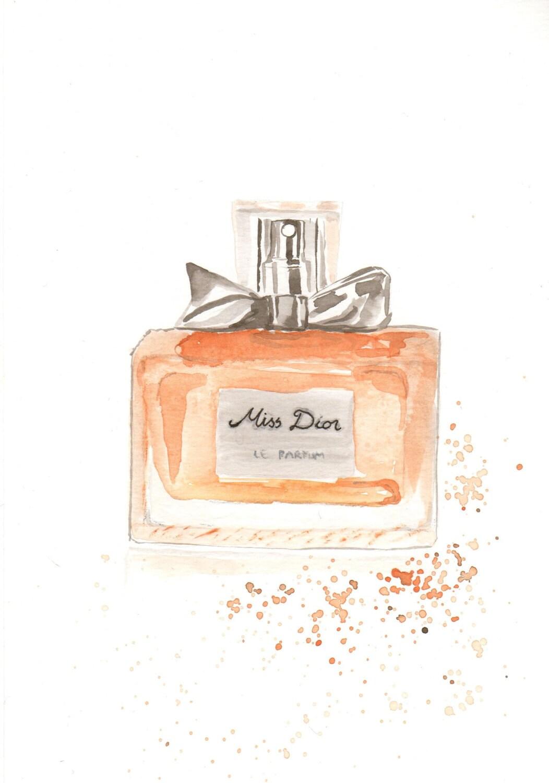 Christian Dior Miss Dior Parfum Fragrance Watercolor Perfume