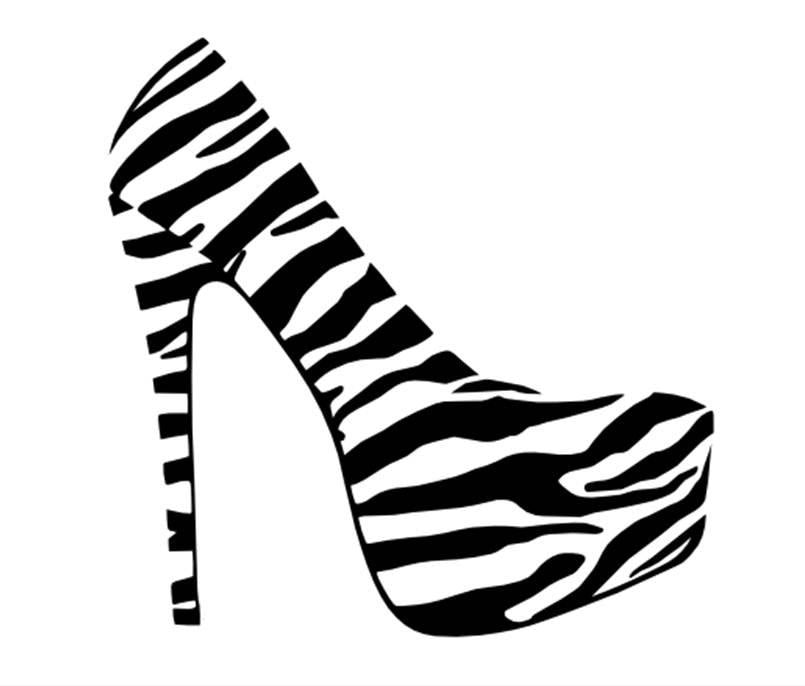 Shoe High Heel 22 X 23 Vinyl Wall Decal For Girls