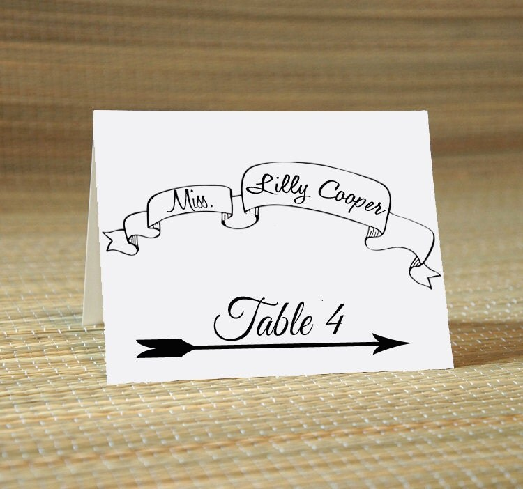 Wedding Calligraphy For Place Card Escort Card Name Card