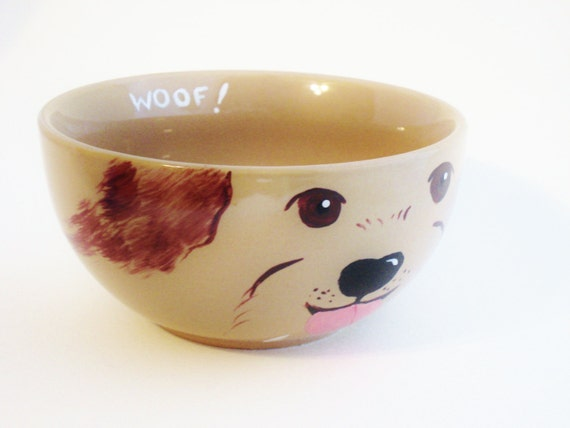 Items similar to unique dog food bowl or water bowl dog for Unusual dog gifts