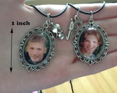 LAST SET Columbine Killers - Eric Harris and Dylan Klebold mini cameo necklaces with charms