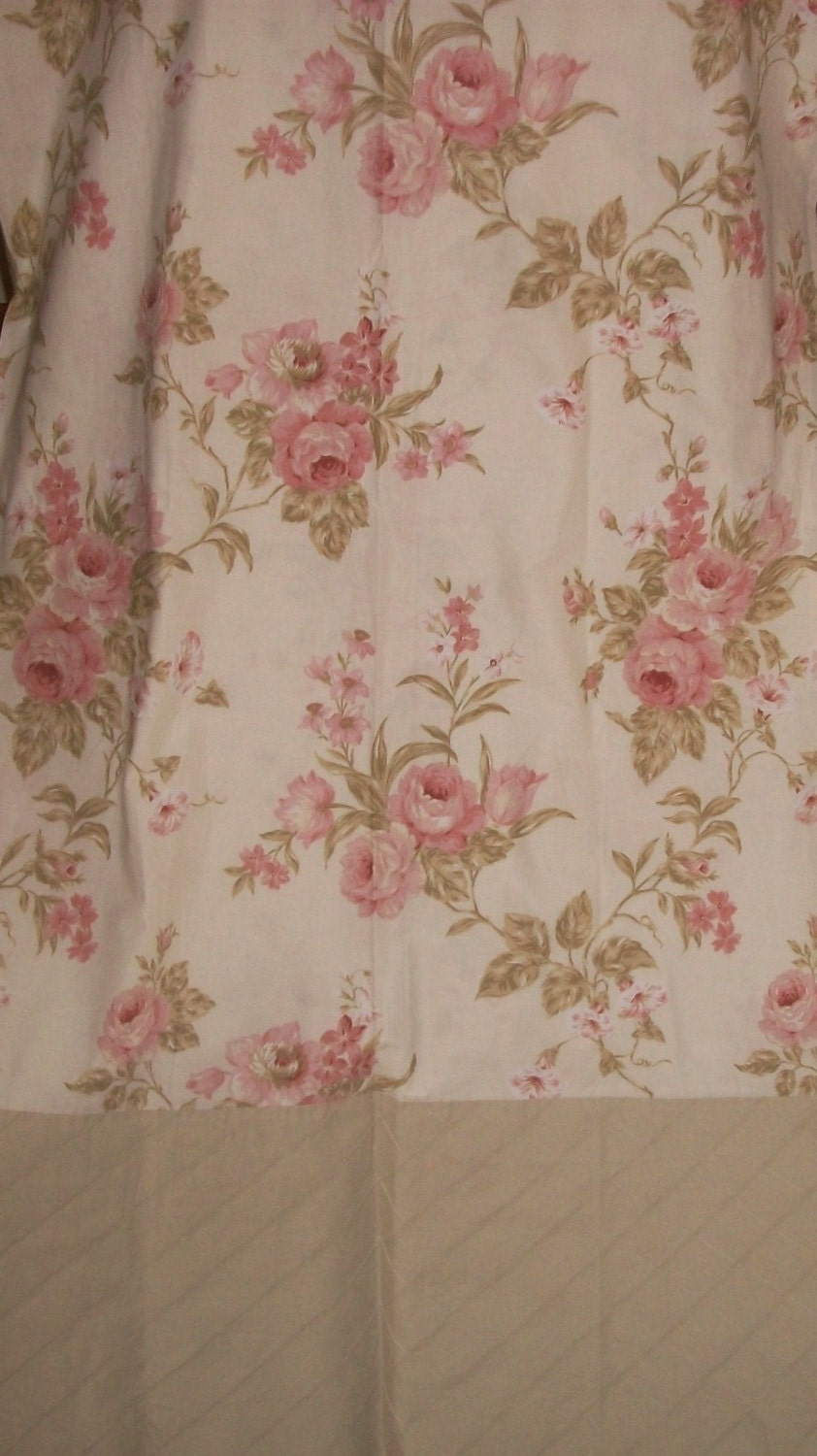 lovely shabby cottage chic laura ashley fabric shower curtain. Black Bedroom Furniture Sets. Home Design Ideas