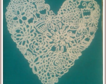 Lace Heart Canvas