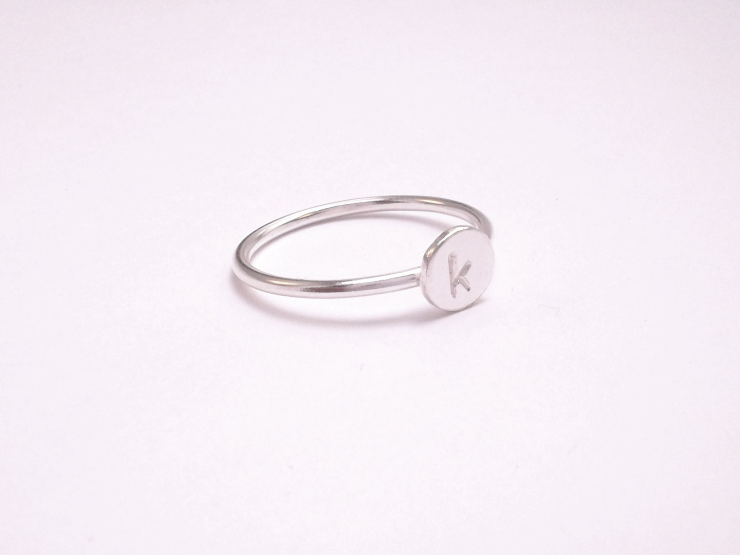 initial ring sterling silver stackable by pilarachuryjoyas