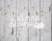 Photography Backdrop - Cracked White Wood - 3 ft x 2 ft - Newborn Vinyl Backdrop Photo or Photobooth Prop